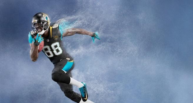 Allen Bernard Hurns Jacksonville Jaguars - Nike American Football NFL Team Kit.