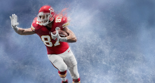 Travis Kelce Kansas City Chiefs - Nike American Football NFL Team Kit.